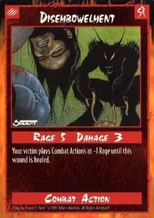 Rage Disembowelment (Unlimited Edition) near mint card