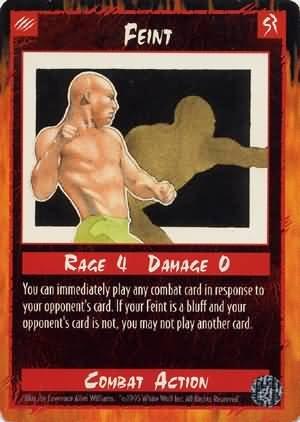 Rage Feint (Limited Edition) near mint card