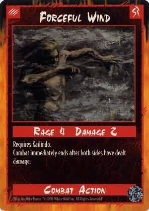 Rage Forceful Wind (Limited Edition) near mint card