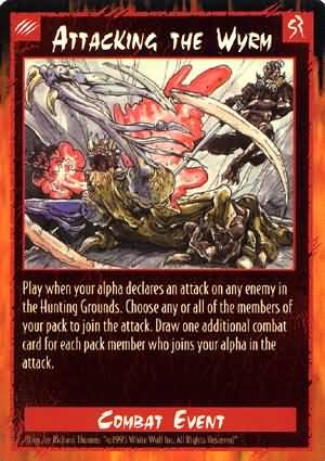 Rage Attacking the Wyrm (Unlimited Edition) near mint card