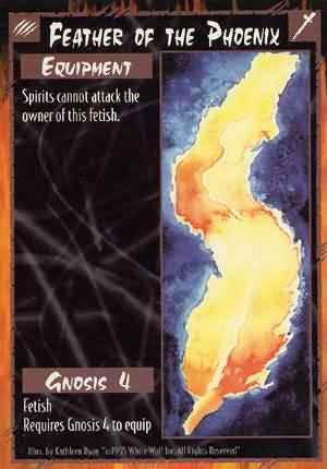 Rage Feather of the Phoenix (Unlimited Edition) near mint card