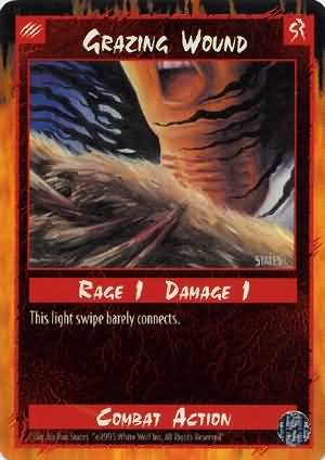 Rage Grazing Wound (Limited Edition) near mint card