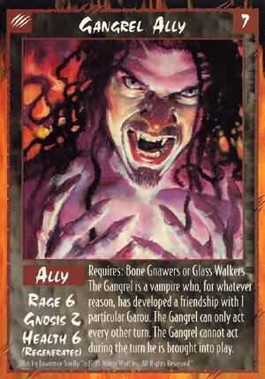 Rage Gangrel Ally (Unlimited Edition) near mint card