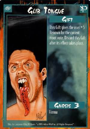 Rage Glib Tongue (Unlimited Edition) near mint card