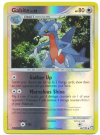 Pokemon Gabite (Mysterious Treasures) #48/123 Reverse Holo near mint card uncommon