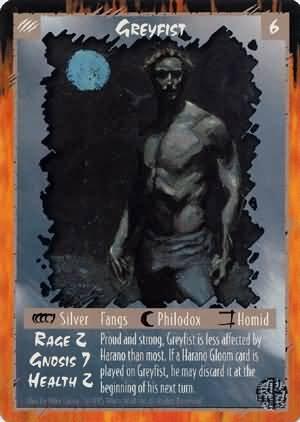 Rage Greyfist (Limited Edition) near mint card