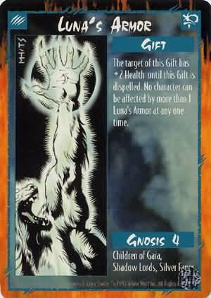 Rage Luna's Armor (Limited Edition) near mint card