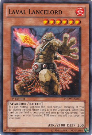 Yugioh Laval Lancelord (PHSW-EN094) 1st Edtion near mint card Common