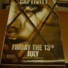 Captivity Advance Movie Poster (2007) 27 x 39 d/s Elisha Cutbert