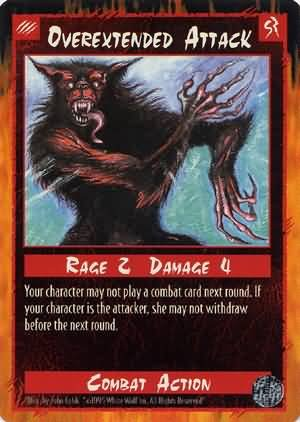 Rage Overextended Attack (Limited Edition) near mint card