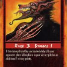 Rage Telling Blow (Limited Edition) near mint card