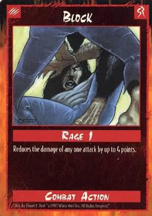 Rage Block (Unlimited Edition) near mint card