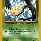 Pokemon Weedle (Base Set One 1) 69/102 Unlimited Edition near mint card Common