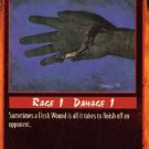Rage Flesh Wound (Unlimited Edition) near mint card