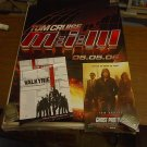 POSTER LOT OF 3 TOM CRUISE MISSION IMPOSSIBLE MI-3, VALKYRIE, & GHOST PROTOCOL