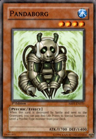 Yugioh Pandaborg (ABPF-EN031) 1st Edition near mint card Common