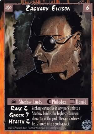 Rage Zachary Ellison (Limited Edition) near mint card
