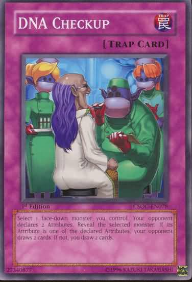 Yugioh DNA Checkup (CSOC-EN078) unlimited edition near mint card Common