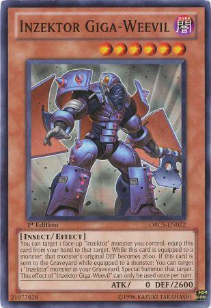 Inzektor Giga-Weevil (ORCS-EN022) unlimited edition near mint card Common