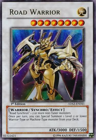 Yugioh Road Warrior (5DS2-EN041) 1st Edition near mint card Ultra Rare Holo