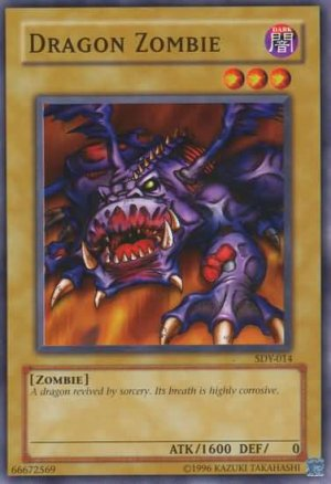 Yugioh Dragon Zombie (SDY-014) slightly played card Unlimited edition Common