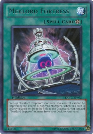Yugioh Meklord Fortress (EXVC-EN095) unlimited edition near mint card Rare
