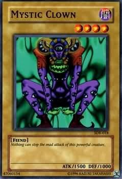 Yugioh Mystic Clown (SDK-018) unlimited edition near mint card Common