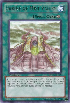 Yugioh Shrine of Mist Valley (ORCS-EN060) unlimited edition near mint card Rare