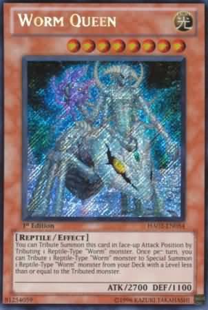 Yugioh Worm Queen (HA02-EN054) 1st edition near mint card Secret Rare Holo