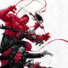 Thunderbolts Poster 24 x 36 in (full size) Red Hulk Deadpool Punisher Elektra