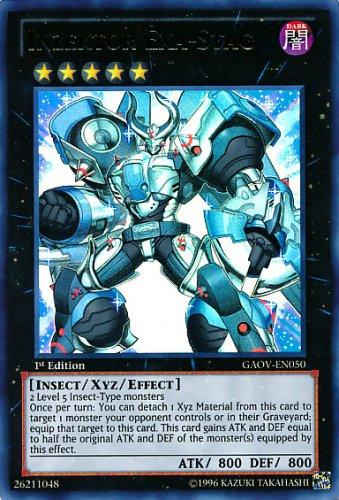 Yugioh Inzektor Exa-Stag (GAOV-EN050) Unlimited Edition near mint card Ultra Rare Holo