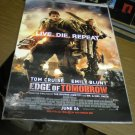 Edge of Tomorrow Movie Poster 27 x 40 d/s Tom Cruise Emily Blunt