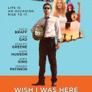 Wish I Was Here Movie Poster 27 x 40 inches (2014) d/s Kate Hudson