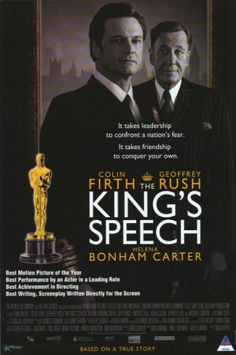 KING'S SPEECH MOVIE POSTER D/S 27x40 COLIN FIRTH