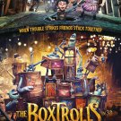 The Boxtrolls Movie POSTER (2014)  27 x 40 inches d/s Ben Kingsley, Jared Harris, Nick Frost,