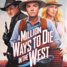 A Million Ways to Die in the West Adv Movie Poster (2014) Seth Rogan Charlize Theron Liam Neeson