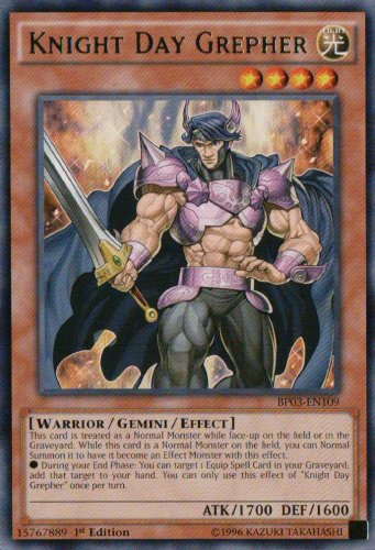 Yugioh Knight Day Grepher (SHSP-EN038) 1st edition near mint card Common