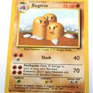 Pokemon Dugtrio (Base Set One) #19/102 Unlimited edition near mint card Non Holo Rare
