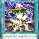 Yugioh Fusion Conscription (CROS-EN053) 1st edition near mint card Silver Letter Rare