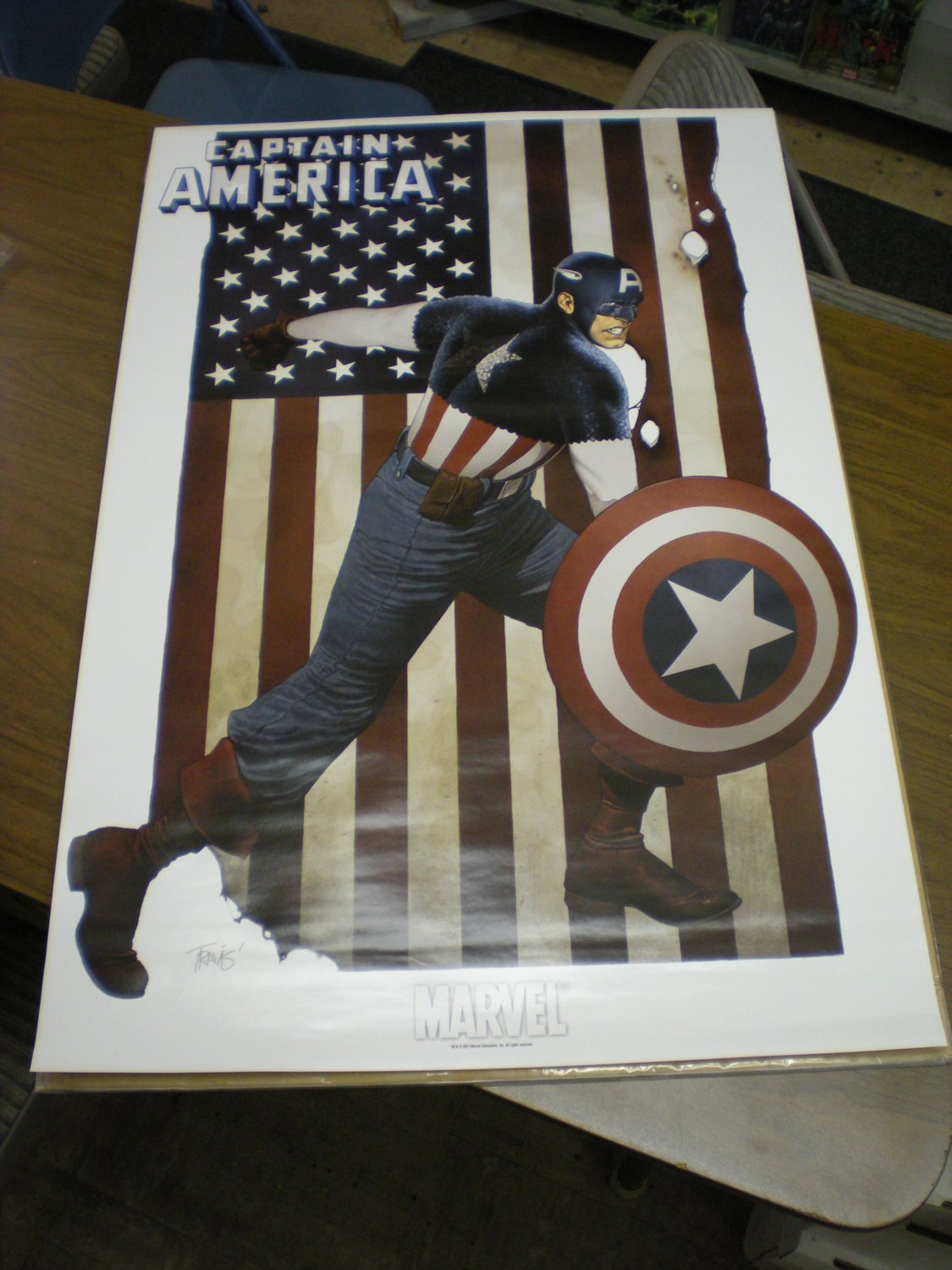 2011 Captain America Poster by Travis Charest 24 x 36 inches BRAND NEW