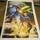 Vintage 2002 Fantastic Four Poster by MARK WAID Mike Wieringo Kesel Isanove