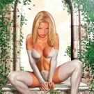 Vintage EMMA FROST POSTER (2002) art by GREG HORN FULL SIZE POSTER 22 x 34 inches