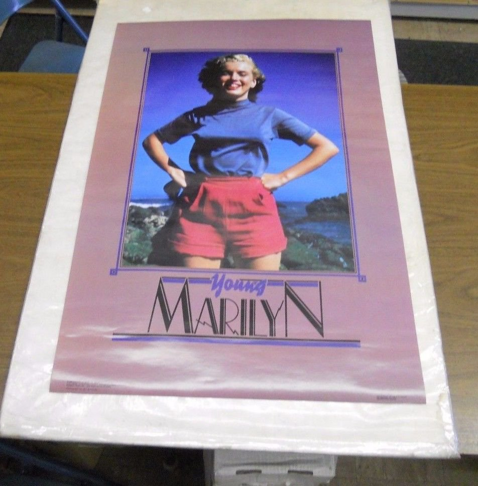 Vintage 1988 Young MARILYN MONROE Poster (never previously displayed) 2