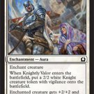 MTG Knightly Valor (Return to Ravnica) near mint card Common Magic the Gathering