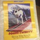"Vintage Spuds MacKenzie Bud Light Beer Party Dog 1986 Poster ""Hang Twenty"" 22x28"