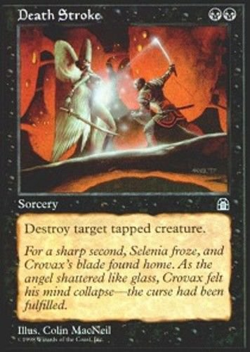 MTG Death Stroke (Stronghold) near mint card