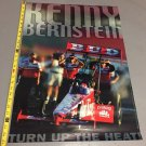 VINTAGE KENNY BERNSTEIN BUDWEISER TOP FUEL TURN UP THE HEAT POSTER