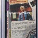 X-Files CCG Senator Richard Matheson (XF96-0220) Rare near mint condition card