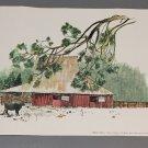 "Vintage 1974 Earl Thollander ""Mormon Barn"" Poster from Nut Tree @ Vacaville, CA"