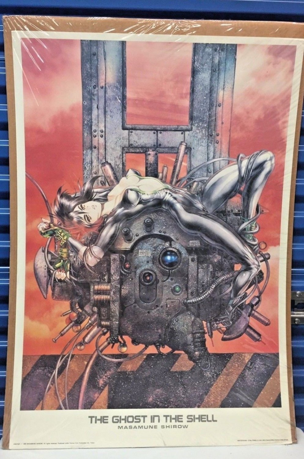 Vintage Ghost In The Shell Litho Masamune Shirow 1993 Limited To 1000 Copies 27 X 38 In